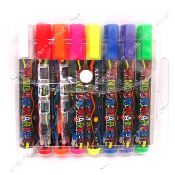 Набор маркеров Window marker IMG_4550 8 цветов 8 шт флуоресцентные меловые