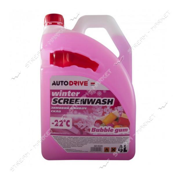 Омыватель для стекла Auto Drive Winter Screenwash зимний -22 Bubble Gum 4 л