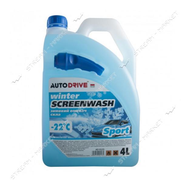 Омыватель для стекла Auto Drive Winter Screenwash зимний -22 Sport 4 л