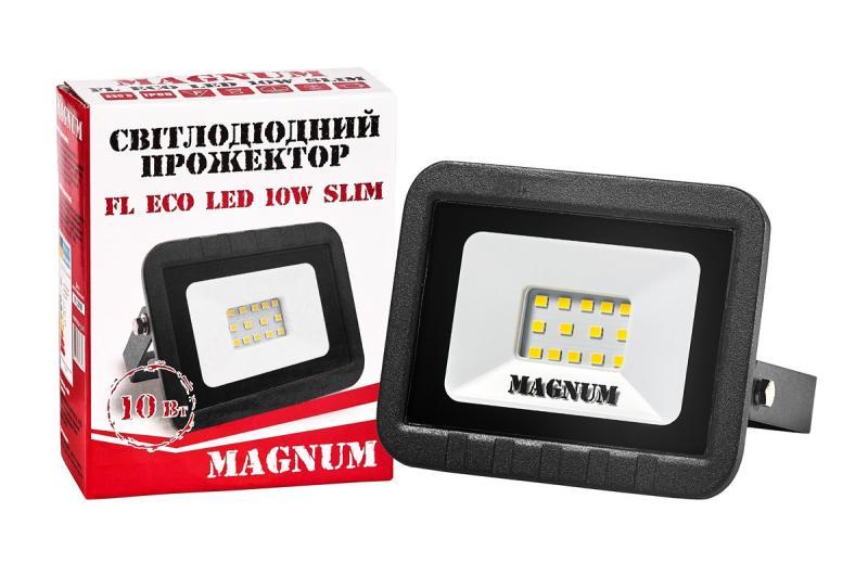 Прожектор светодиодный MAGNUM FL ECO LED 10Вт slim 6500К IP65