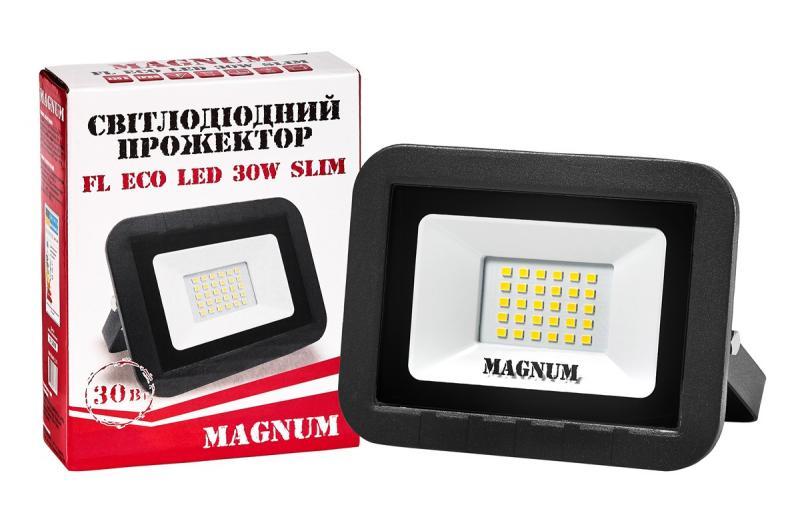 Прожектор светодиодный MAGNUM FL ECO LED 30Вт slim 6500К IP65
