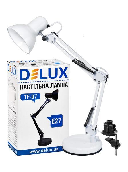 светильник настольный DELUX TF-07_E27 белый