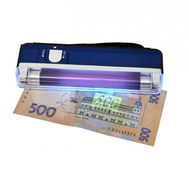 Детектор валюты DELUX MD-1 (4AA) синий