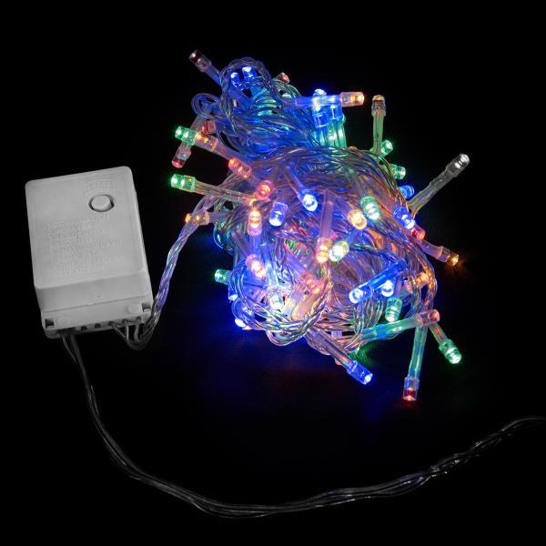 Гирлянда внутренняя DELUX STRING С 200LED 10m мульти/прозрачный IP20