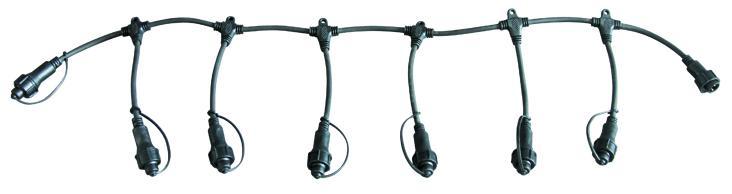 Коннектор для гирлянд DELUX T-type на 6 выходов IP44 EN
