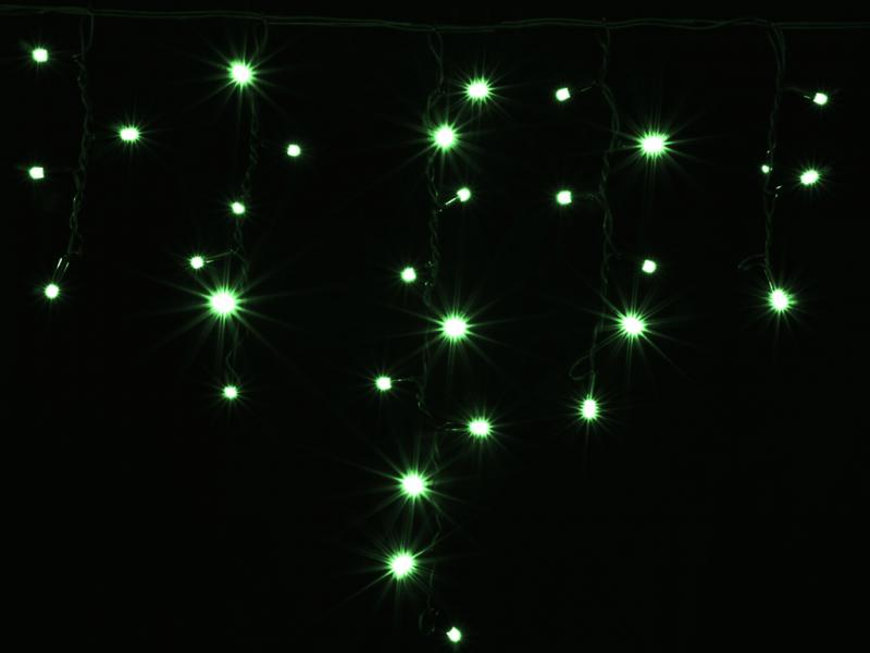 Гирлянда внешняя DELUX ICICLE 120LED 2x0.9m зеленый/черный IP44 EN