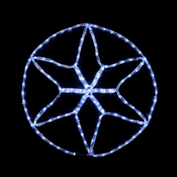 Гирлянда внешняя DELUX MOTIF Star 0,6*0,6м flash белый IP 44 EN