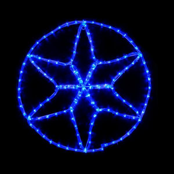 Гирлянда внешняя DELUX MOTIF Star 0,6*0,6м 13 flash синий IP 44 EN
