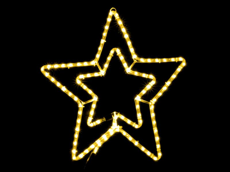 Гирлянда внешняя DELUX MOTIF Star 54см желтый IP44 EN