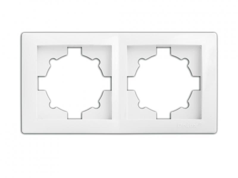 Рамка 2-секционная 9302 WEGA белая