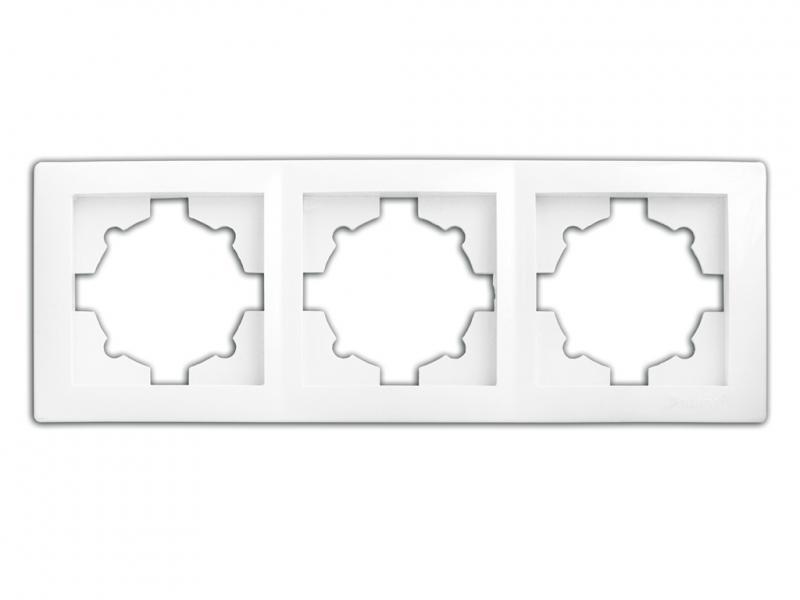Рамка 3-секционная 9303 WEGA кремовая