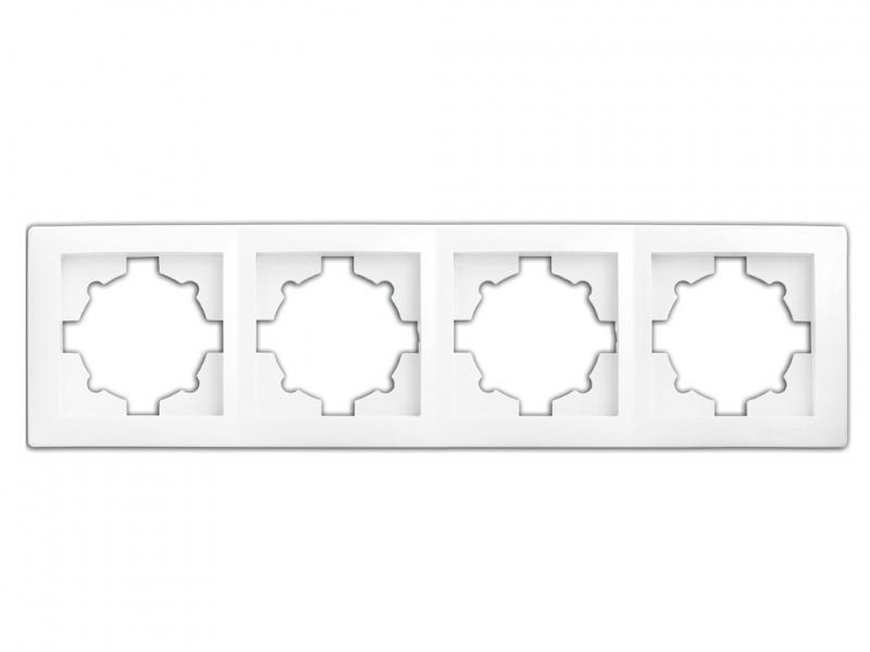 Рамка 4-секционная 9304 WEGA кремовая