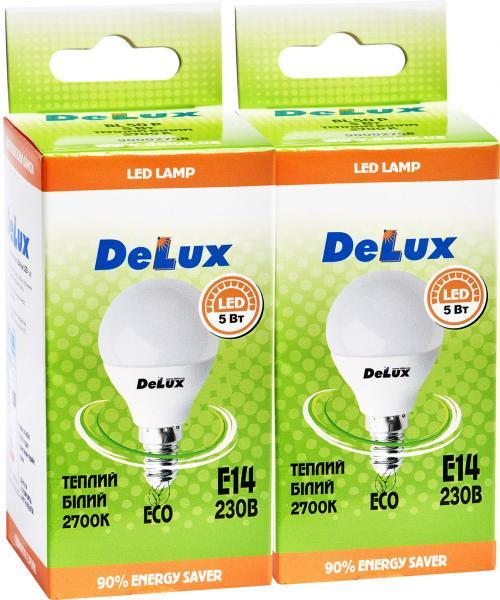 лед.лампа_DELUX_BL50P 5 Вт_2700K 220В E14 (промо)_2 шт.