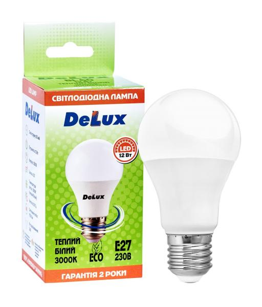 лампа светодиодная DELUX BL60 12Вт 3000K Е27 теплый белый