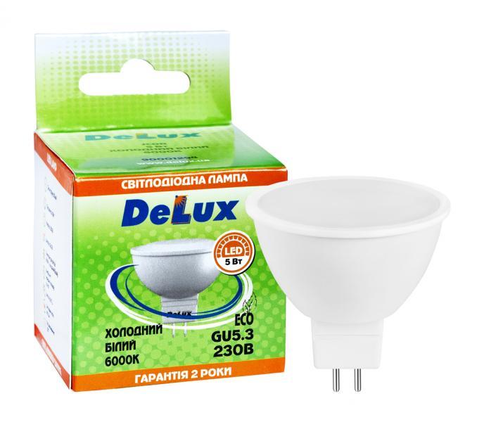 лампа светодиодная DELUX JCDR 5Вт 6000K 220В GU5.3 холодный белый