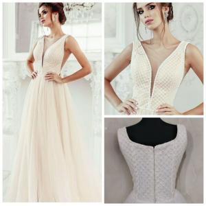 Фото Свадебные платья Легкое непышное свадебное платье Синая