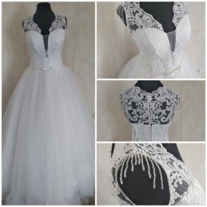 Фото Свадебные платья Пышное белое свадебное платье Розалия