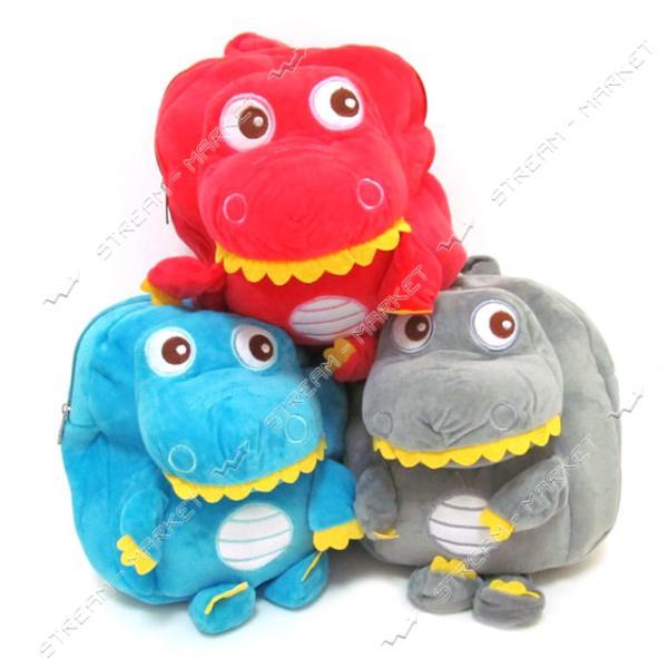 Рюкзак детский с игрушкой Дракончик 2961 27х23х6 см цвета в ассортименте