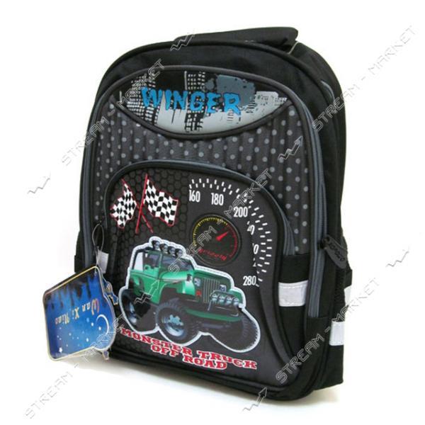 Рюкзак детский Ралли 7227В-2 39х28х12 см рисунок в ассортименте
