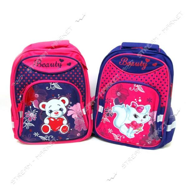 Рюкзак детский Beauty 7229В-2 39х28х12 см рисунок в ассортименте