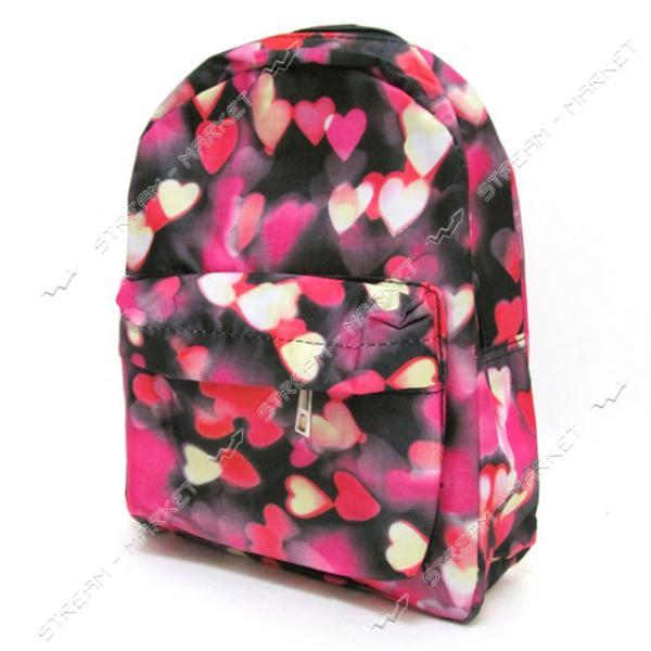 Рюкзак детский Сердечки DSCN0616-S-1 27х21х9 см цвета в ассортименте