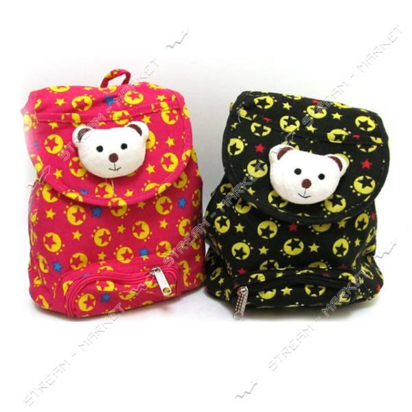 Рюкзак детский с игрушкой Мишка DSCN2846 21х20х10.5 см цвета в ассортименте