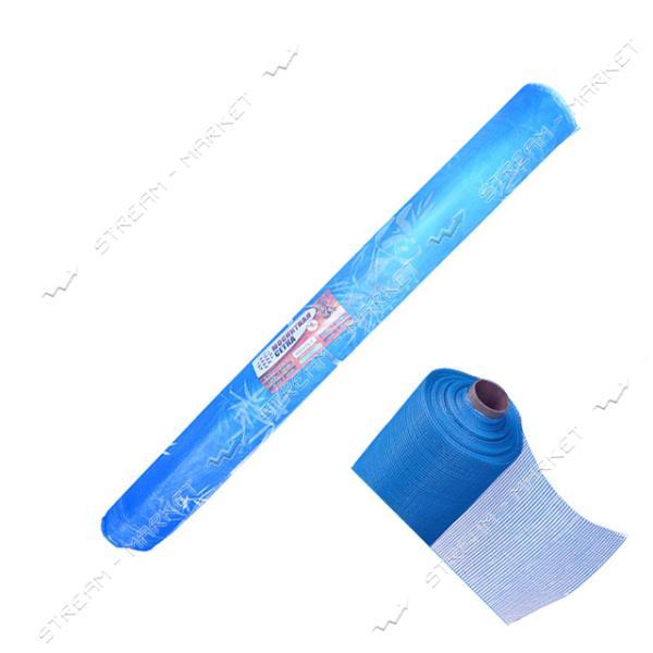 Сетка москитная плетенная (леска) ПАНДА с рисунком эконом 1.2х50м синяя