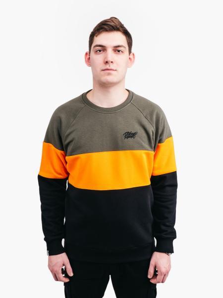 Свитшот  COLOR T OLIV Urban Planet XL 90% котон, 10% еластан Оливковый-оранжевый-черный UP 3-4-0-114