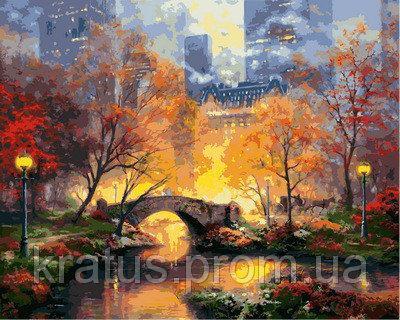 """VP872 """"Магия вечернего парка"""" Картина на холсте по номерам 40х50см"""