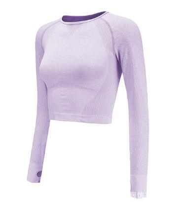 Женские спортивные кофты для спорта, кофта для бега, одежда, кофточка, одежда, олимпийка для фитнеса Фиолетовый