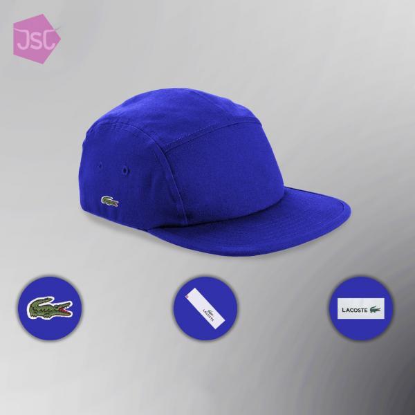 Кепка бейсболка Lacoste 5-Panel Fitted (ориг.бирка) синий One size