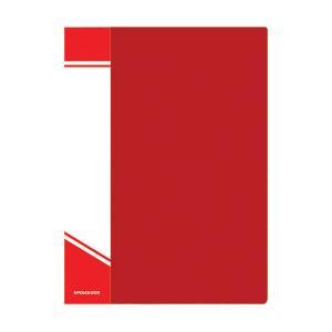 Папка с файлами inФОРМАТ А4 20 файлов, пластик 500 мкм, карман для маркировки, цвет ассорти