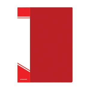 Папка с файлами inФОРМАТ А4 30 файлов, пластик 500 мкм, карман для маркировки, цвет ассорти