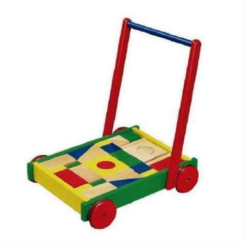 Ходунки-каталка Тележка с кубиками 50306B Viga Toys