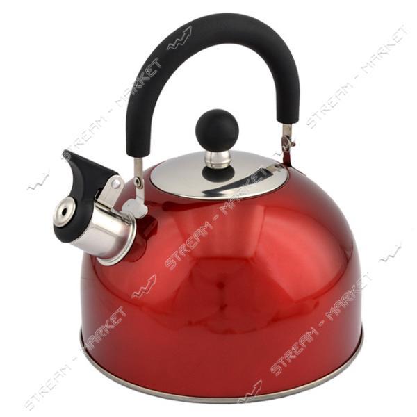Чайник Hozland HL- 30252 со свистком 2.5л бордовый