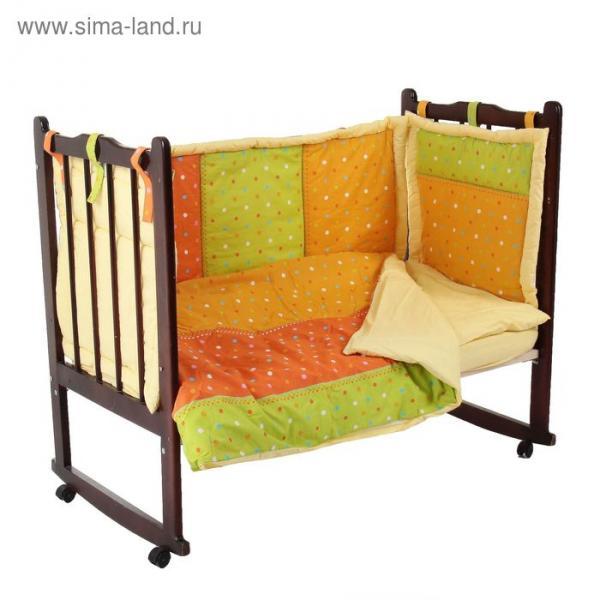 """Комплект в кроватку """"Лоскуток"""" (6 предметов), цвет  10605"""