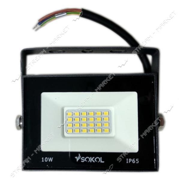 Светодиодный прожектор SOKOL LED-SLT-10W 220V 6500К IP65 Slim холодный