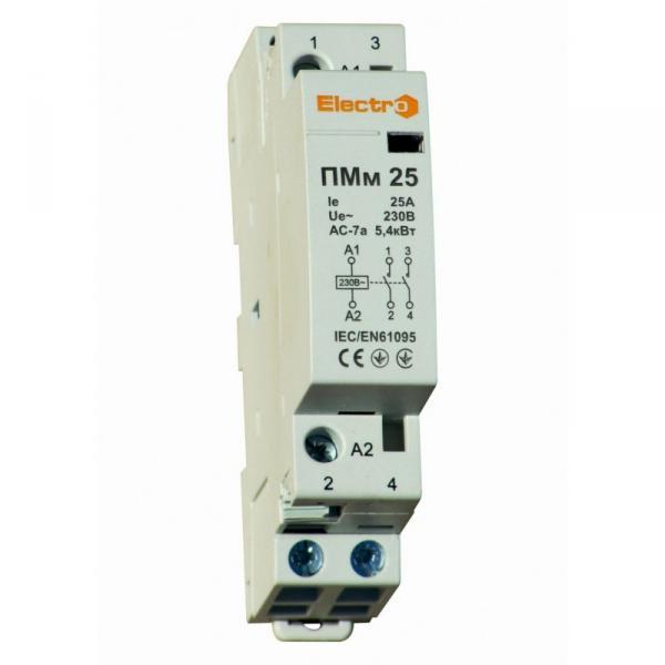 Модульний контактор ПМм 2 полюси
