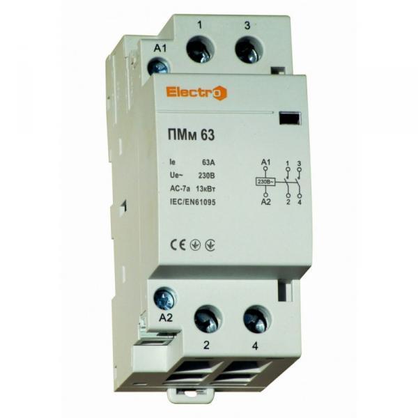 Модульний контактор ПМм, 2 полюси,  32 А, 40 А,  63 А