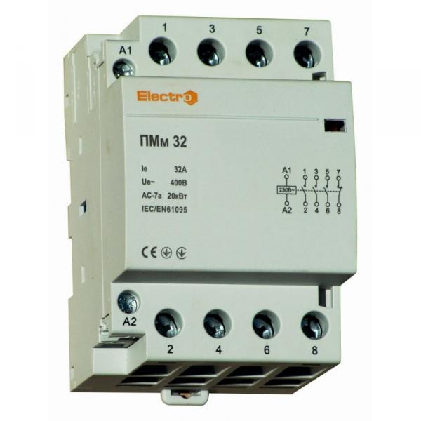 Модульний контактор ПМм, 4 полюси,  32 А, 40 А,  63 А