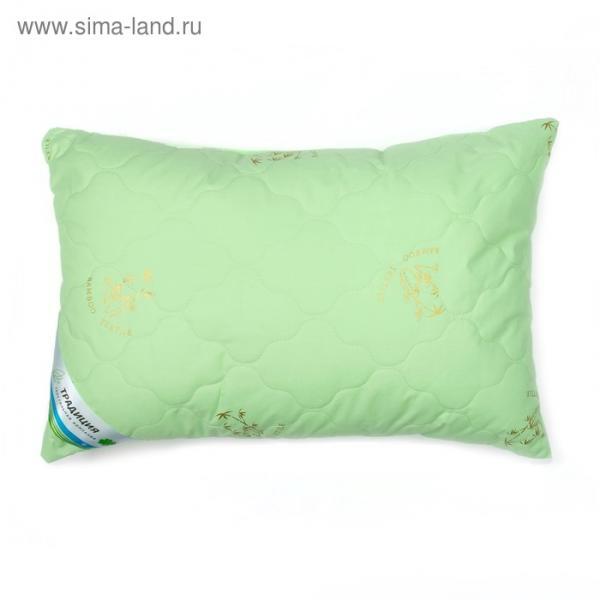 Подушка Жили-были 40х60 см, стеганый чехол тик, бамбук, лебяжий пух, хл.100%