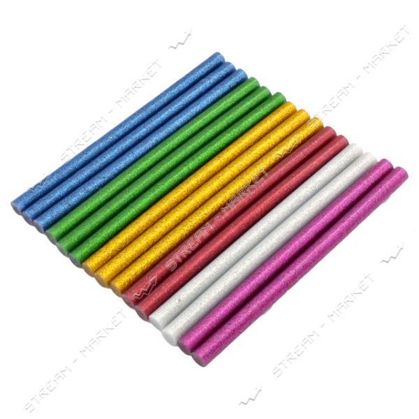 Стержни клеевые 11х180 мм цветные с блестками 240 г