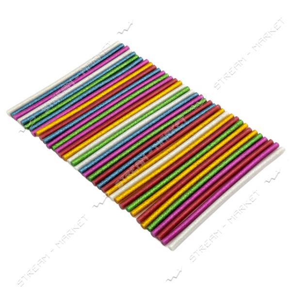Стержни клеевые 8х180 мм цветные с блестками 240 г