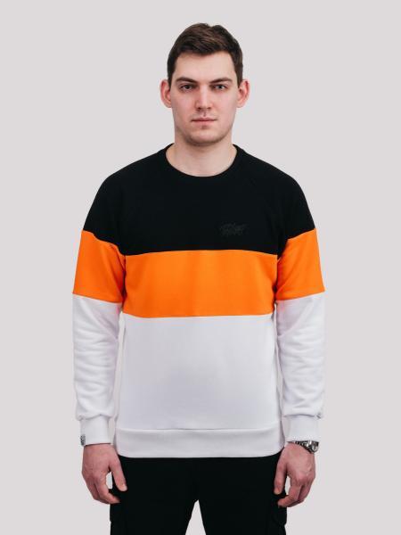 Свитшот  COLOR T WHT Urban Planet XXL 90% котон, 10% еластан Черный-оранжевый-белый UP 3-4-0-115