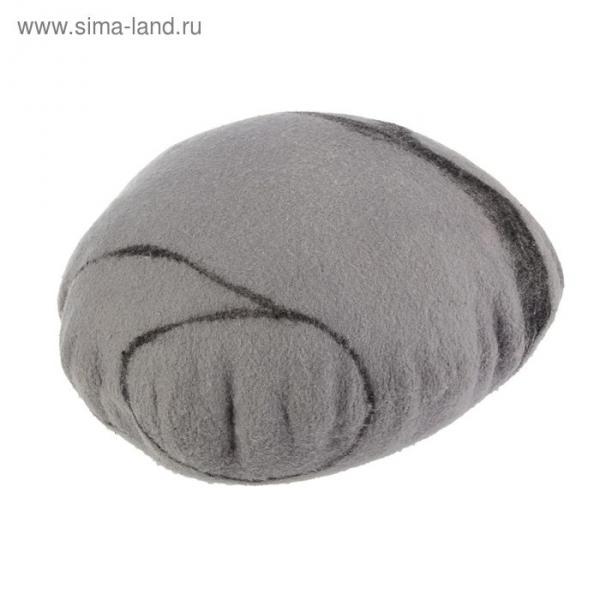 Подушка из войлока, диаметр 30 см, цвет серый