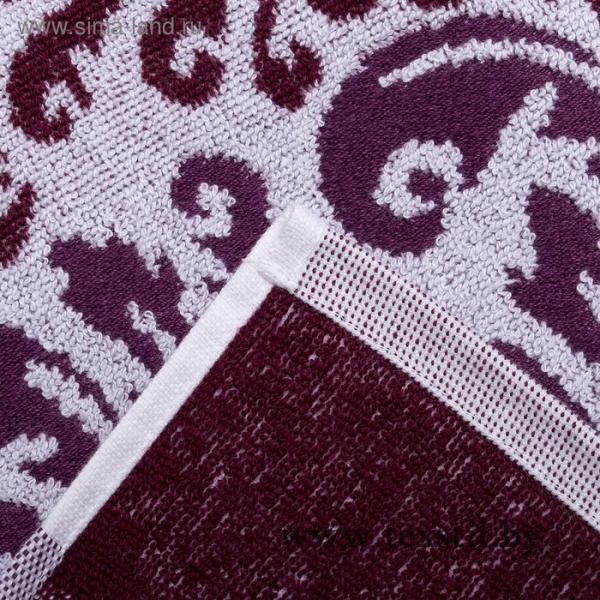 Фото Текстиль, Текстиль к 14 Февраля, Сувенирный текстиль, Полотенца Полотенце махровое DOLCE Танаис 70х130 см, баклажан-белый, хлопок 100%, 450 г/м2