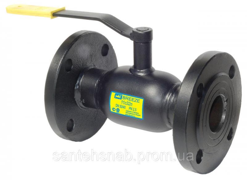 Кран шаровый стальной фланцевый 11с32п BREEZE Europe Ду15/10-300/250