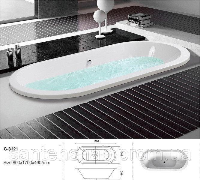 Акриловая ванна Atlantis С-3121 170х80