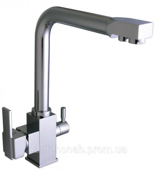 Смеситель для кухни LAZER GLLR-0100 хром комбинированный под осмос