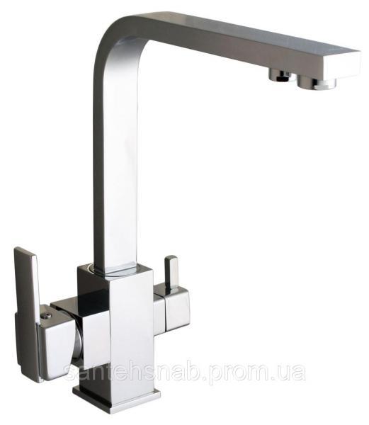Смеситель для кухни LAZER GLLR-0111 CHROM комбинированный под осмос